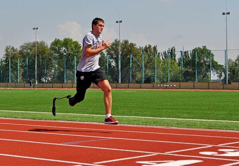 Ukraine Man Running